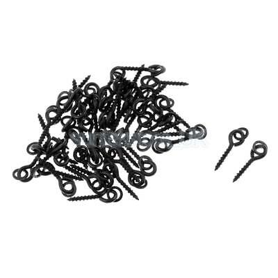 50pcs Bait Screws with Oval Ring Pegs for Pop Up Bollies, Baits, Carp Tackle