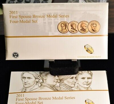 2011 First Spouse Bronze Medal Set - 4 Medals U.S Mint