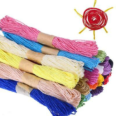 30M Paper Rope Cord String Colorful Wrap Gift Link Paper Tag Jute DIY Craft