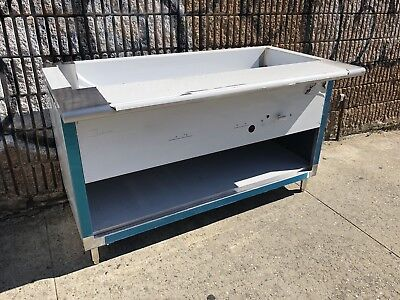 """60"""" Stainless Steel Steam Table 4 Pans 1 Burner Nat Gas 20,000 BTU NSF Approved"""