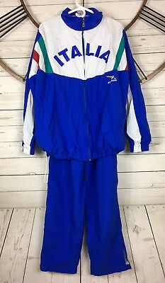 Italia Spell Out Track Suit XXL Runners Multi Color Windbreaker Jacket Pants