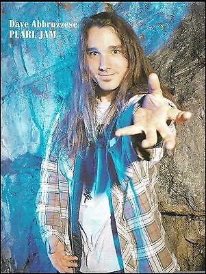 Pearl Jam Dave Abbruzzese 8 x 11 color pinup photo