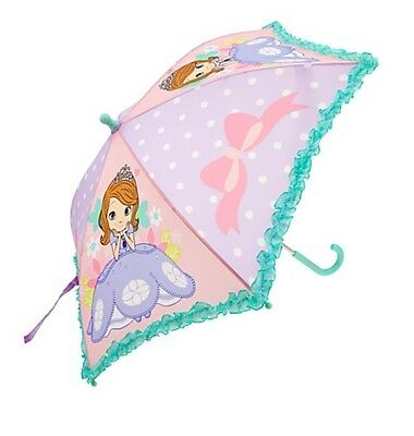 Disney Store Authentic Sofia the First Umbrella Girls Princess Gift NWT!