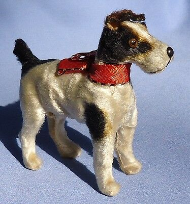 Antique Fripon Fox Terrier Salon Squeaker Dog Germany French Fashion Doll 4""
