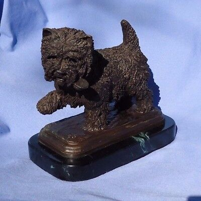 "bronze CAIRN Norwich West Highland Terrier 6"" Baldwin dog"