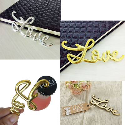 Cute LOVE Letter Beer Wine Metal Bottle Opener Cap Lifter Wedding Party Favor