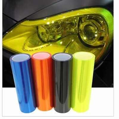 "12"" x 48"" Car Headlight Fog Light Taillight Yellow Vinyl Smoke Film Wrap Sticker"