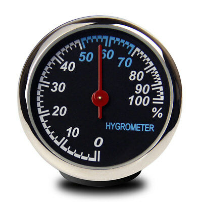 NEW Steel Car Auto Hygrometer Meter Fit for Dashboard Ornament Decoration