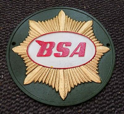 SUPERB HEAVY CAST IRON BSA GOLD STAR MOTORCYCLES SIGN OR PLAQUE 4 COLOUR 25cm