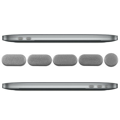 """Dust Protection Set For Apple Macbook Pro 13"""" 15"""" (From 2016) Touchbar Silver"""