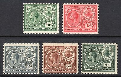 BAHAMAS 1920 Peace set of 5 mint, SG 106-110 cat £22