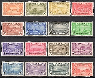 BAHAMAS 1948 Tercentenary set of 16 M, SG 178-193 cat £75