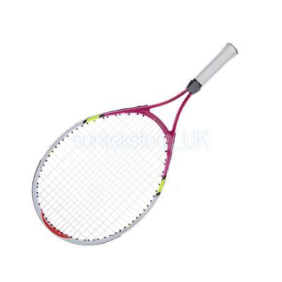 23 Inch Junior Strung Tennis Racquet with Cover for Kids Youth Children Red