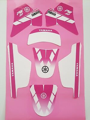 Autocollant Kit Deco Fille MX YAMAHA PW 50 PW50 PINK ROSE Piwi Haute Qualité