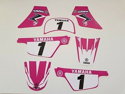 Adhesif Kit Deco Fille MX YAMAHA PW 50 PW50 ROSE ORIGINE Piwi Qualité Premium