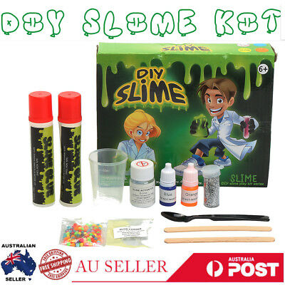 AU DIY Weird Slime Kit Science Chemistry Making Educational Toys Kids Xmas Gift