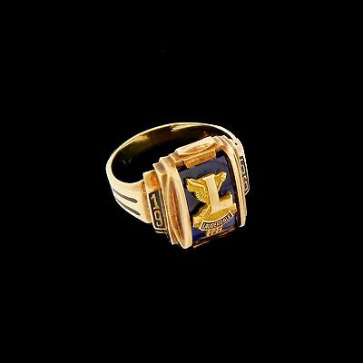 Rare Vtg 10k Gold Ft Lauderdale Florida High School Class Graduation Ring 1956