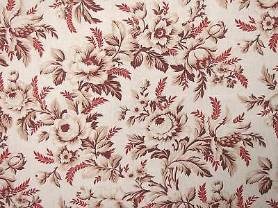 FABRIC NUMBER TWO length of antique French fabric ~ lovely faded design