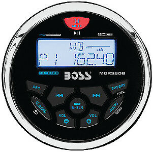 Boss Audio Systems - MGR350B MARINE GAUGE STYLE RCVR-IPX6