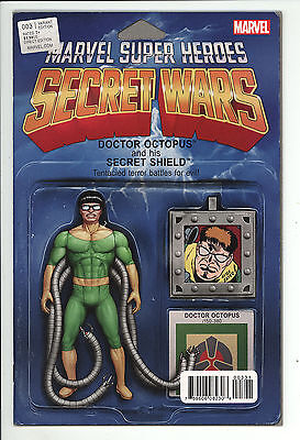 Secret Wars (2015) #3 Christopher Doctor Octopus Action Figure Variant Cover NM