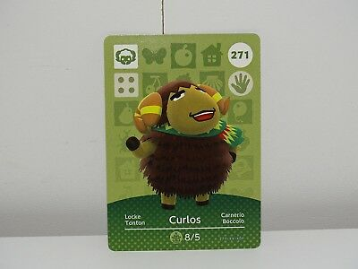 Amiibo Animal Crossing Card Curlos Locke no. 271 Top