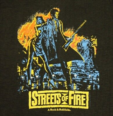 XS * NOS vtg 80s 1983 STREETS OF FIRE movie promo t shirt * vhs * 52.156