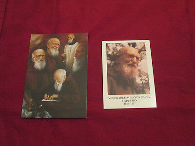 Fr. Solanus Casey  Set of 2 Prayer- Holy Cards and 1 Free Relic Badge