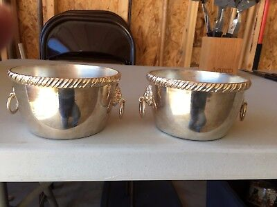 Sterling Silver Vintage Pair Of Caviar Serving Bowls