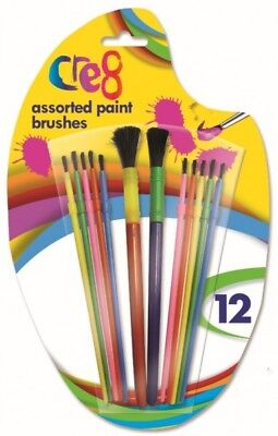 PACK OF 3 COLOURFUL CHUNKY PAINT BRUSHES CHILDRENS CHILDS ART /& CRAFT PAINTING
