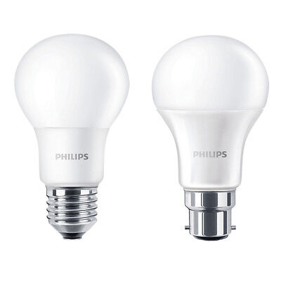 Packs of: Philips LED GLS B22 / E27 A60 Light Bulbs 5.5w / 8w / 11w / 13w 240v