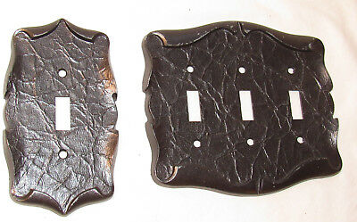 2 Vintage Amerock Carriage House Silver Single / Triple Toggle Switch plates