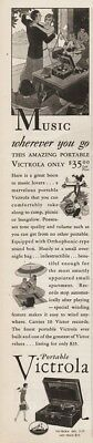 1929 Victor Victrola VV 2-55 portable phonograph Music Whereever You Go Print Ad