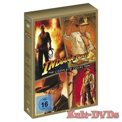 Indiana Jones 1+2+3+4 - The Complete Collection (5-DVD-Box) Harrison Ford *Neu*
