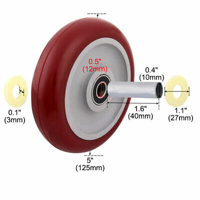 Household Market Shopping Cart Pallet Hand Trolley Replacement Casters Wheel
