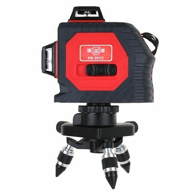 US 3D Red Laser Level Self Leveling 12 Lines 360° Horizontal&Vertical Cross