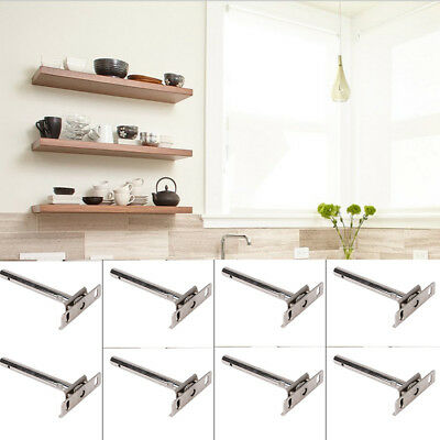8pcs Concealed Floating Hidden Shelf Support Metal Bracket 5""