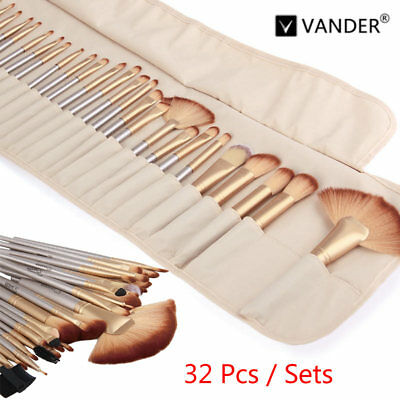Vander 32Pcs/Kit Beauty Make up Brushes Pro Cosmetic Superior Soft Brush Set+Bag