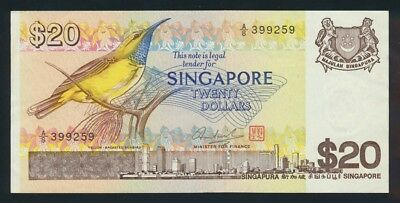 "Singapore: 1979 $20 BIRD SERIES ""CONCORDE"" on back. Pick 12, Cat UNC $100"