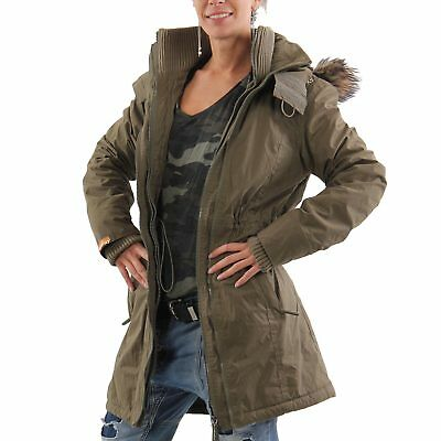 superdry dufflecoat winter mantel parka damen gr l 42. Black Bedroom Furniture Sets. Home Design Ideas