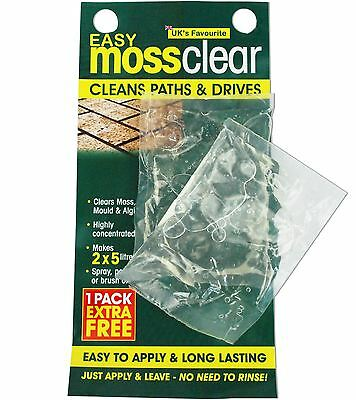 Easy Moss Killer Sachets 2 PCS Patio Moss Killer Moss Clear Makes 10L Diluted
