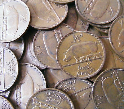 Irish Half Penny Coins - Choose Your Year 1928-1967 - Pig And Piglets - Ireland