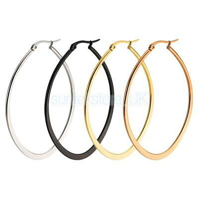 4pcs/Set Mixed Color Circle Round Large Earrings 60mm for Women Girl Jewelry