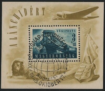 Ungarn / Hungary 1948 - Mi-Nr. Block 13 gest / used - Bitte lesen / Please read