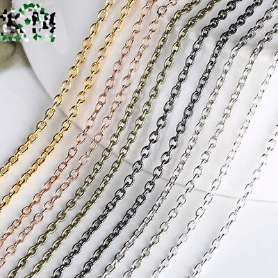 5meters 2x3mm Metal Cross Chain Small Craft Design Cable Open Link Chain