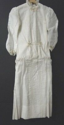 1800's Estate Antique Victorian Child Baby Christening Lace & Ribbon DRESS Gown