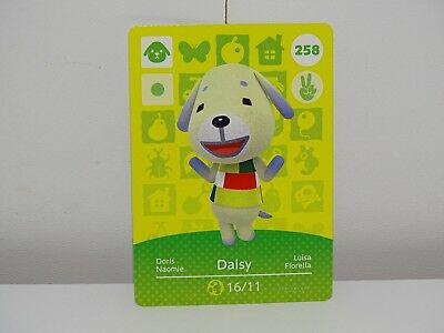 Amiibo Animal Crossing Card Daisy Doris no. 258 Top