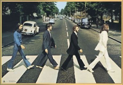 The Beatles Poster & Kunststoff-Rahmen Gold (91x61cm) #AX8OD