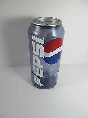 """Vintage 12"""" Tall Pepsi Cola Can Coin Counter Battery Operated WORKS RARE"""