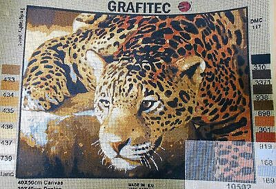 JAGUAR PROWLING - Tapestry/Needlepoint Canvas (NEW) by GRAFITEC