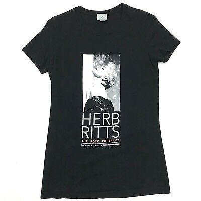Herb Ritts Madonna T Shirt Rock Roll Hall of Fame Black Crew Neck Short Sleeve